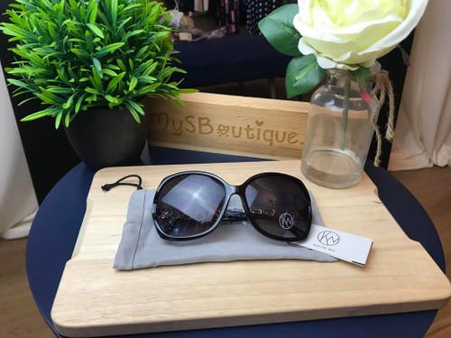 Designer Kaytie Wu Monaco Tort Black Sunglasses