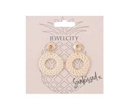 The Hamptons Straw Circular Earrings