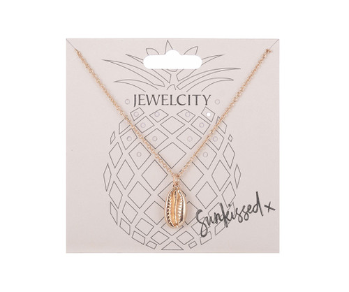 Gold Shell Friendship Charm Necklace