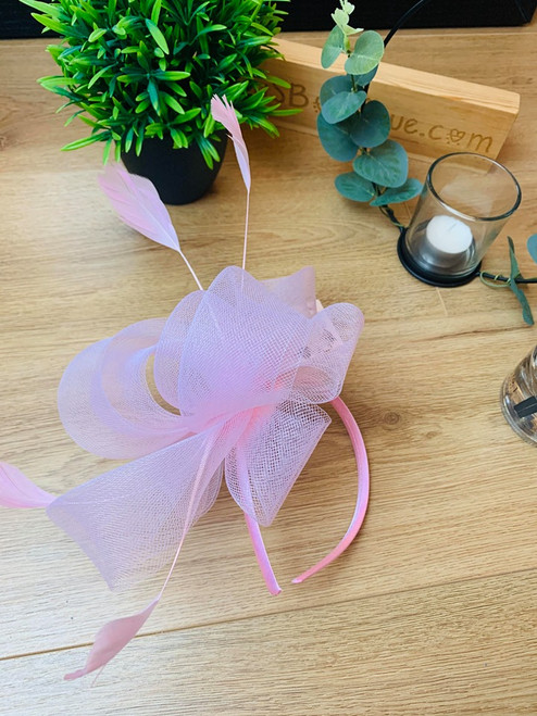 Baby Pink Loopy Loo Bow Fascinator