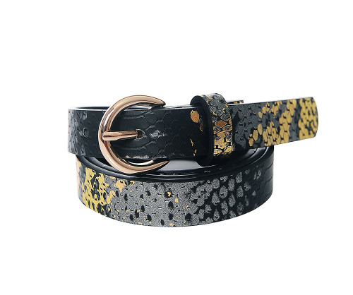 Snakes Don't Hiss... Black Snake Skin Belt