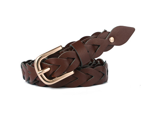Charlotte Brown Plaited Belt