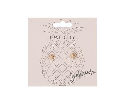 Golden Treasure Gold Shaped Stud Earrings