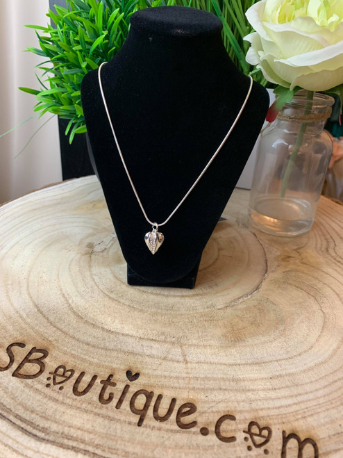 Darling Buds Of May Silver Diamante Bud Pendant