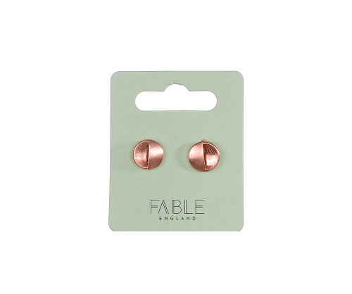 Fable England Rose Gold Small  Round Stud Earrings