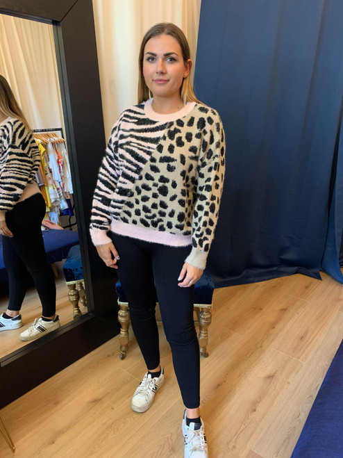 Queen Of The Jungle Mixed Animal Print Jumper