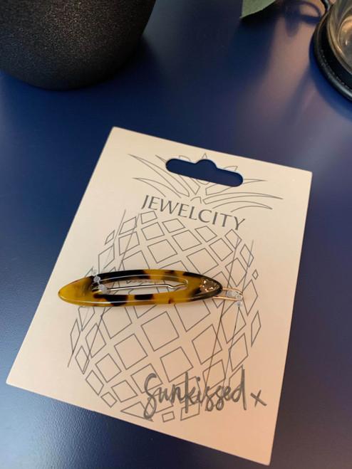 Brown Tortoise Shell Acrylic Hair Slide