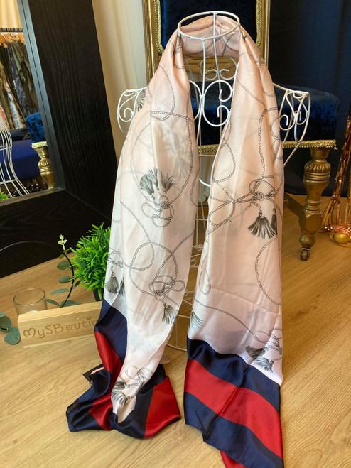 Designer Inspired Pale Pink Cashmere Style Large Scarf