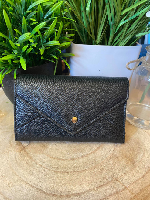 Envelope Style Black  Multi Function Small Purse