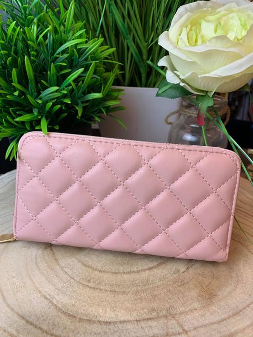 Designer Inspired Celina Quilted Large Pink Purse