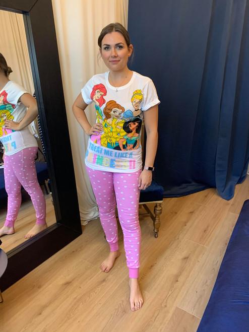 'Treat Me Like a Princess' Disney Princess Slogan Pyjama Set