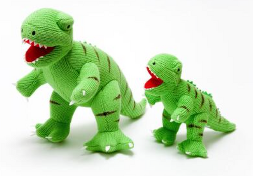 Knitted Dinosaur Green T - Rex - Large