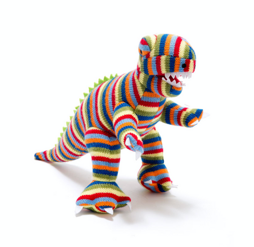 Knitted Dinosaur Stripes - Small
