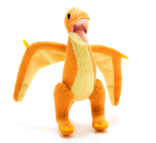 Knitted Dinosaur Pterodactyl Rattle - Small