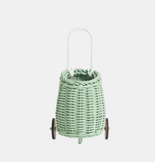Rattan Doll Luggy - Mint