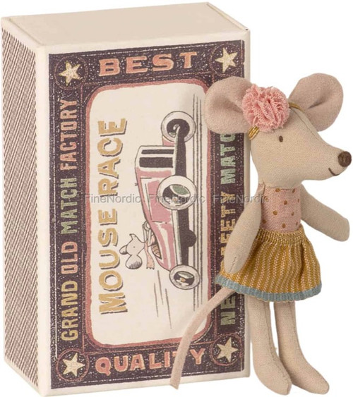 Little Sister Maileg mouse in Matchbox
