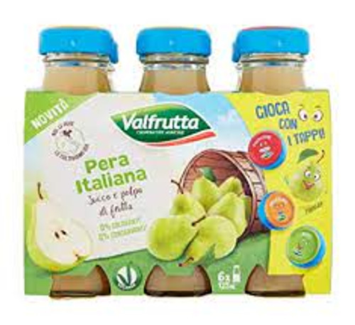 Buy Valfrutta Pear Nectar 6x125ML at La Dispensa Valfrutta Succo Pera