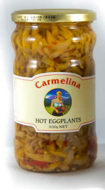 Buy Carmelina Spiced Eggplant in oil 520g at La Dispensa