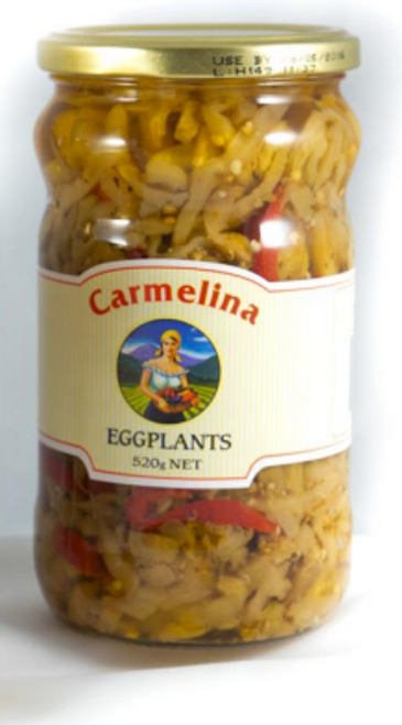 Buy Carmelina Mild Eggplant in oil 520g at La Dispensa