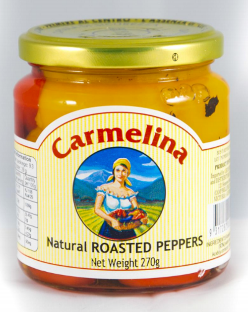 Buy Carmelina Natural Roasted Peppers 280g at La Dispensa
