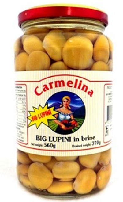 Buy Carmelina Lupini Beans in Brine 550g at La Dispensa