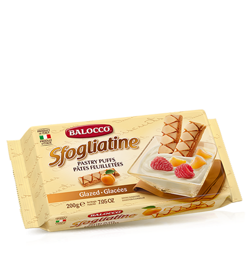 Buy Balocco Sfogliatine Glazed Pastry Puff Biscuits 200g at La Dispensa