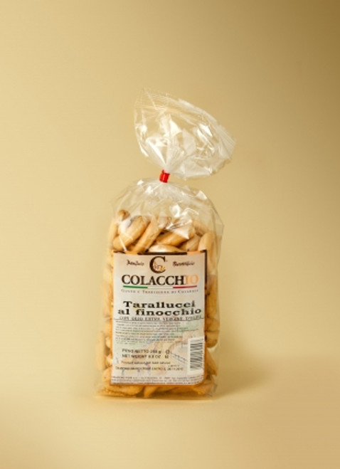 Buy Colacchio Tarallucci al Finocchio(Fennel) 250g at La Dispensa