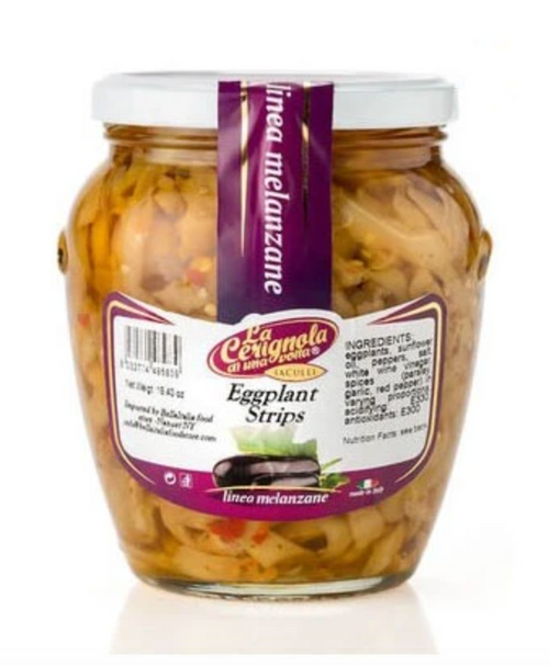 Buy La Cerignola Seasoned Eggplant Sripes 580g at La Dispensa