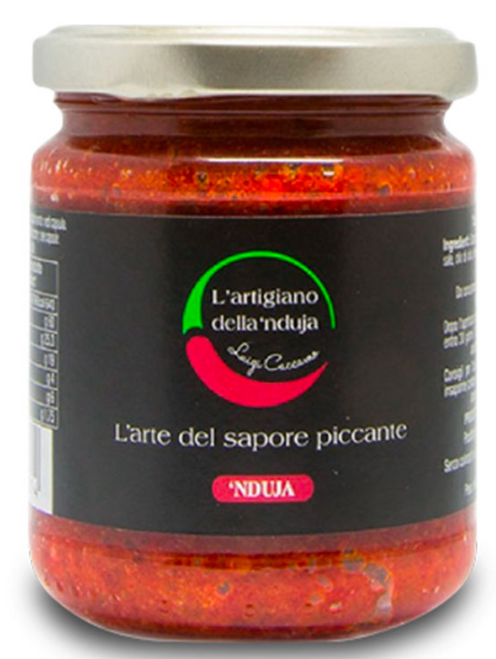 Buy L'Artigiano della Nduja Salami spread in Jar 180g at La Dispensa
