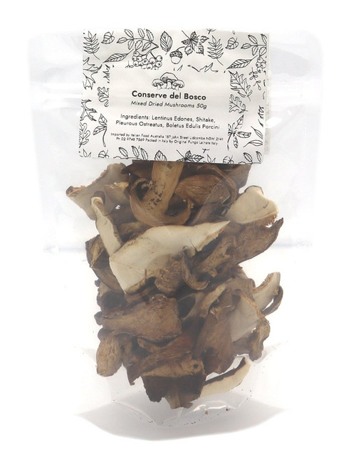 Buy Conserve del Bosco Mixed Dried Mushrooms 50g at La Dispensa