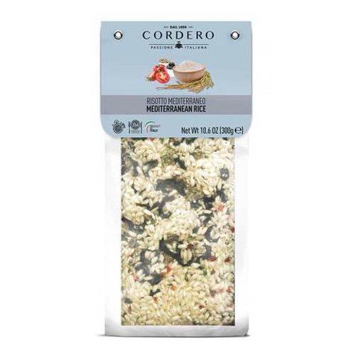 Buy Cordero Risotto Mediterraneo with olives and capers 300g at La Dispensa