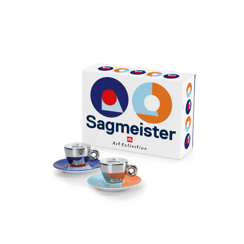 Illy Stefan Sagmeister Illy Art Collection 2 Espresso Cups & Saucers