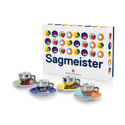 Buy Illy Stefan Sagmeister Illy Art Collection 4 Espresso Cups & Saucers at La Dispensa