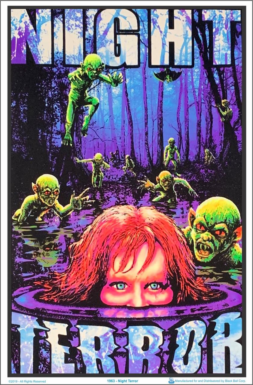 "Laminated Evil Clown Blacklight Poster 23/"" x 35/"""