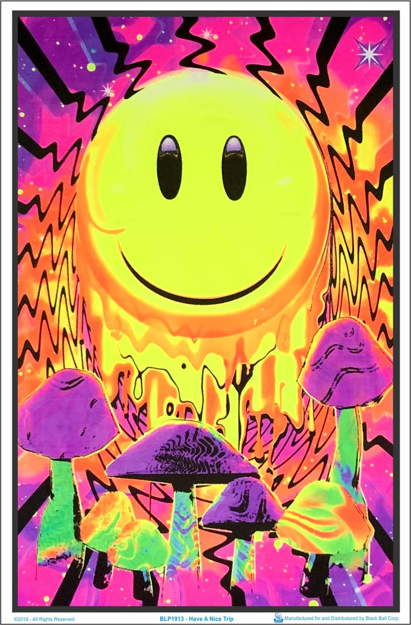 Mad Hatter Blacklight Poster 23 inches x 35 inches