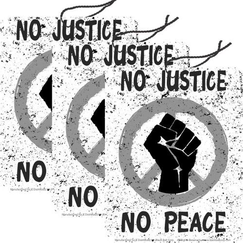 Road Rage Air Freshener - Vanilla Scent - No Justice No Peace Black Fist - 3 Pack