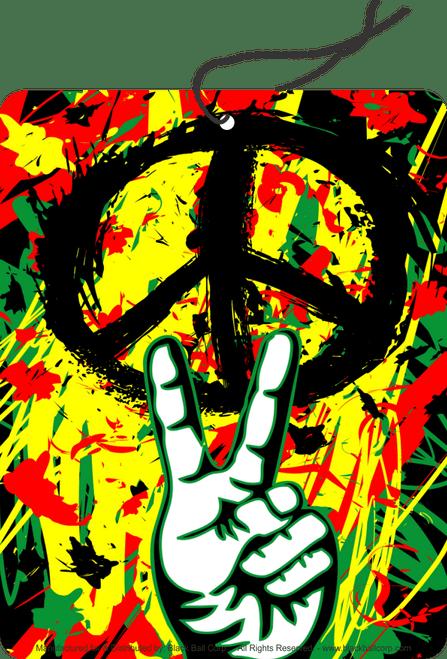 Road Rage Air Freshener - Vanilla Scent - Peace Graffiti