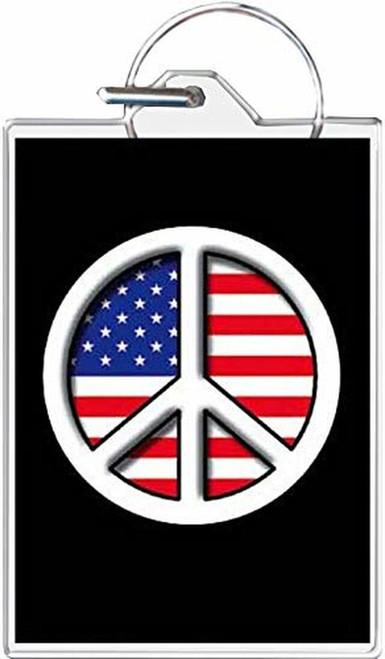 Peace Flag Keychain