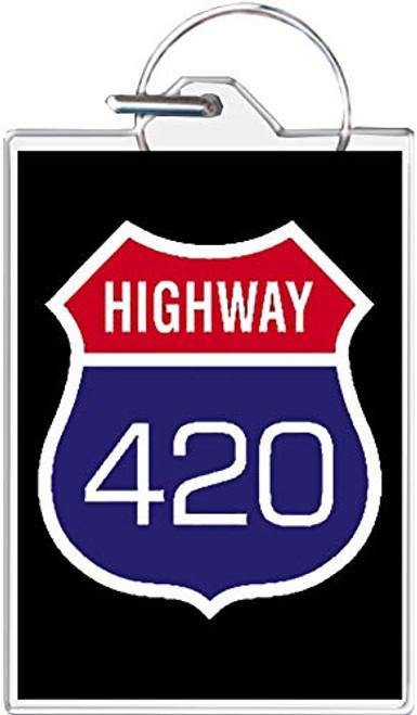 Highway 4:20 Keychain