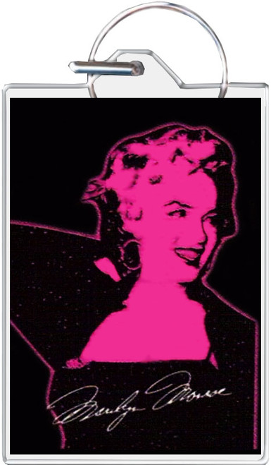 Marilyn Monroe - Black Keychain