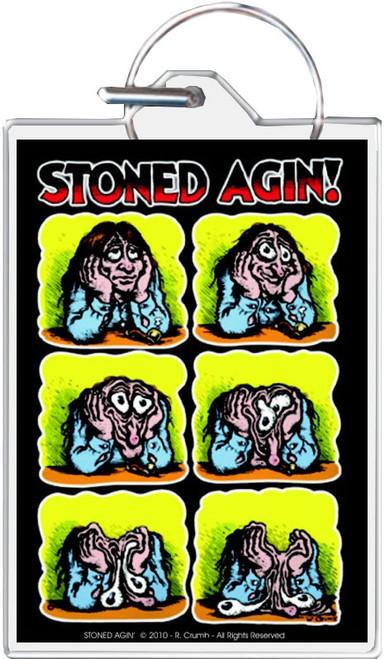 Stoned Agin - R. Crumb Keychain