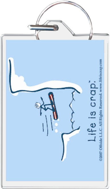 Life Is Crap - Snowboarding Keychain