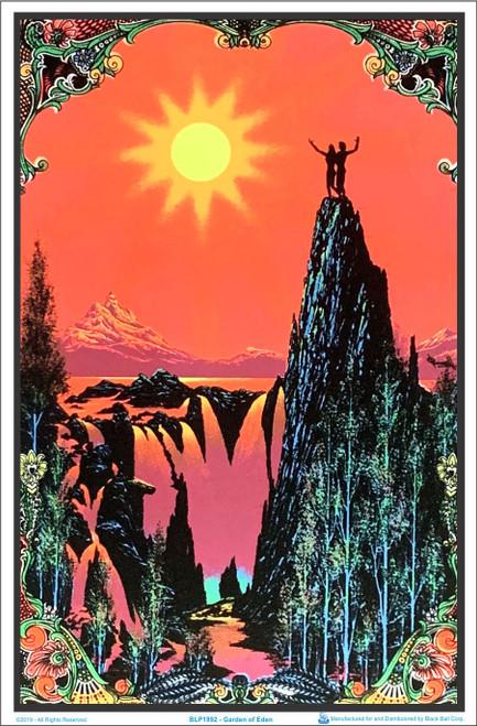 Product Image for Garden of Eden Flocked Black Light Poster Print