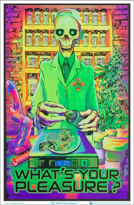 Product Image for Whats Your Pleasure Zombie Black Light Poster