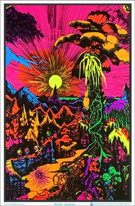 Product Image for Lost Horizon Flocked Black Light Poster Print