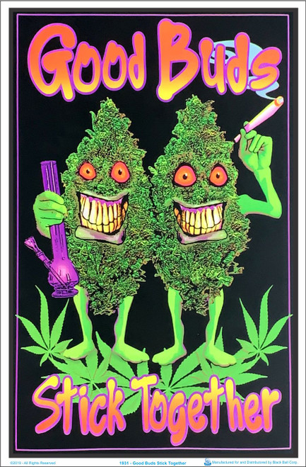 Product Image for Good Buds Stick Together Black Light Poster
