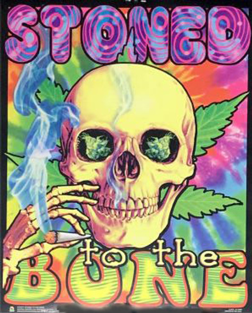 Product Image for Stoned To The Bone Non-Flocked Mini Black Light Poster