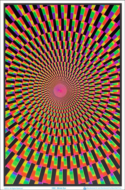 Product Image for Minds Eye Blacklight Poster