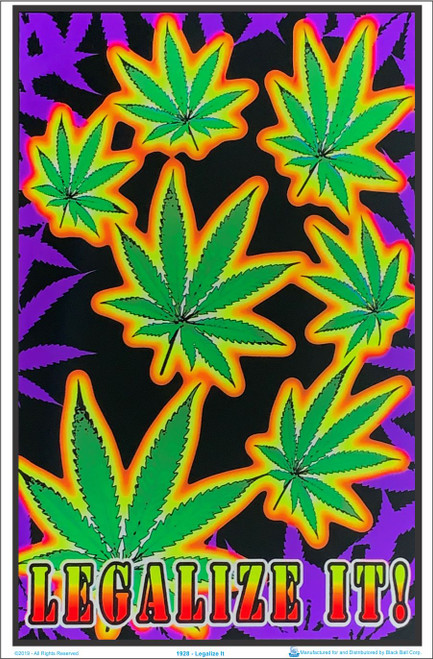 Product Image for Legalize It BlackLight Poster