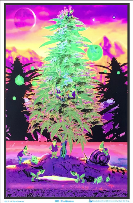 Product Image for Weed Gnomes Black Light Poster